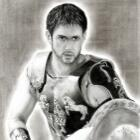 Art Drawing - Jensen Ackles Portrait #20 - manip 'Gladiator'