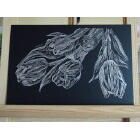 Art Drawing - Silver Tulips - Flower - Nature
