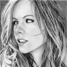 Art Drawing - Kate Beckinsale Portrait