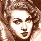 Art Drawing - Lana Turner Portrait