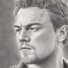 Art Drawing - Leonardo DiCaprio Portrait - Blood Diamond