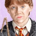 Art Drawing - Art Drawing - Rupert Grint Portrait - Ron Weasley in 'Harry Potter and the Chamber of Secrets'