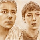 Art Drawing - Stand By Me - Portrait of Chris Chambers and Gordie Lachance - River Phoenix and Wil Wheaton'