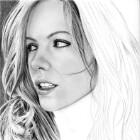 Art Drawing - Making of Kate Beckinsale Portrait - Step 4