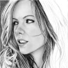 Art Drawing - Making of Kate Beckinsale Portrait - Step 5