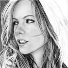 Art Drawing - Making of Kate Beckinsale Portrait - Step 6