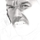 Art Drawing - Making of Mark Wahlberg Portrait - Bob Lee Swagger in 'Shooter' - Step 3