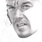 Art Drawing - Making of Mark Wahlberg Portrait - Bob Lee Swagger in 'Shooter' - Step 4