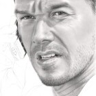 Art Drawing - Making of Mark Wahlberg Portrait - Bob Lee Swagger in 'Shooter' - Step 5