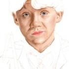 Art Drawing - Making of Rupert Grint Portrait - Ron Weasley in 'Harry Potter and the Chamber of Secrets' - Step 2