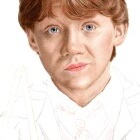 Art Drawing - Making of Rupert Grint Portrait - Ron Weasley in 'Harry Potter and the Chamber of Secrets' - Step 3
