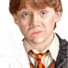 Art Drawing - Making of Rupert Grint Portrait - Ron Weasley in 'Harry Potter and the Chamber of Secrets' - Step 4