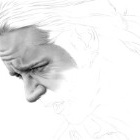 Art Drawing - Making of Russell Crowe Portrait - Capt. Jack Aubrey in 'Master and Commander: The Far Side of the World' - Step 2