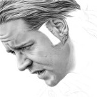 Art Drawing - Making of Russell Crowe Portrait - Capt. Jack Aubrey in 'Master and Commander: The Far Side of the World' - Step 4