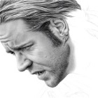Art Drawing - Making of Russell Crowe Portrait - Capt. Jack Aubrey in 'Master and Commander: The Far Side of the World' - Step 5