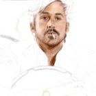 Art Drawing - Making of Ryan Gosling Portrait - Holland March in 'The Nice Guys' - Step 2