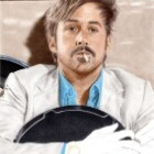 Art Drawing - Making of Ryan Gosling Portrait - Holland March in 'The Nice Guys' - Step 6
