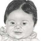 Art Drawing - Candyce - Baby Portrait