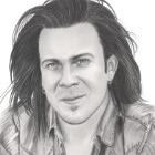 Art Drawing - Christian Kane Portrait - Commission