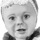 Art Drawing - Clara - Baby Portrait