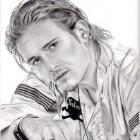 Art Dessin - Portrait d'Orlando Bloom - Commande