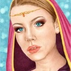 Art Drawing - Laurendil - woman portrait - fantasy