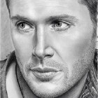 Art Drawing - Jensen Ackles Portrait - Dean Winchester - Supernatural