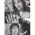 Art Drawing - 'I would have gone with you to the end' - Aragorn and Frodo - Lord of the Rings