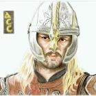 Art Drawing - Karl Urban Portrait - Eomer - Lord of the Rings