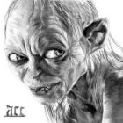 Art Drawing - Gollum Portrait - Lord of the Rings