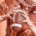 Art Drawing - American Football - Player - Quarterback
