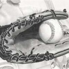 Art Drawing - Baseball - Glove