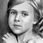 Art Drawing - Child Portrait 01