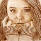 Art Drawing - Dreamy - Woman Portrait