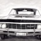 Art Drawing - Chevrolet Impala 1967