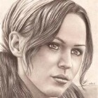 Art Drawing - Pensive - Portrait