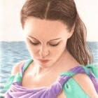 Art Drawing - Serenity - Portrait