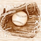 Art Drawing - Softball - Glove - Ball