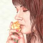 Art Drawing - Such a Sweet Perfume - Portrait