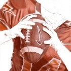 Art Drawing - Making of American Football - Player - Quarterback - Step 3