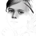 Art Drawing - Making of Child Portrait 01 - Step 2