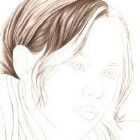 Art Drawing - Making of Pensive - Portrait - Step 2