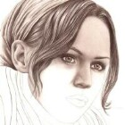 Art Drawing - Making of Pensive - Portrait - Step 4