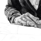 Art Drawing - Making of The Storyteller - Book - Hands - Step 4