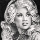 Art Drawing - Dolly Parton Portrait