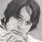 Art Drawing - Joan Baez Portrait