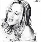 Art Drawing - Lara Fabian Portrait #2
