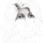 Art Drawing - Making of Dolly Parton Portrait - Step 2