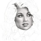 Art Drawing - Making of Dolly Parton Portrait - Step 3