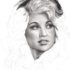 Art Drawing - Making of Dolly Parton Portrait - Step 4